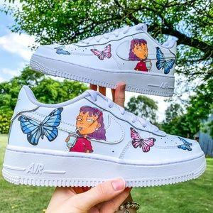 Nike Air Force 1 Custom Reggie Cartoon Sneakers